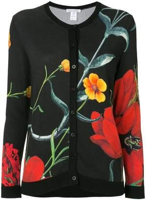 Oscar de la Renta knit floral cardigan