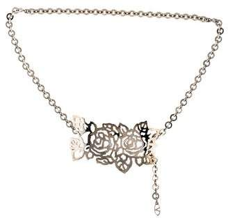 Valentino Floral Chain-Link Belt