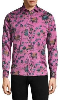 Etro Tropical Cotton Button-Down Shirt
