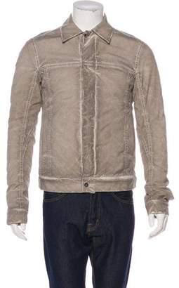 Rick Owens Distressed Worker Jacket