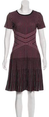 St. John A-Line Striped Dress