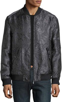 Robert Graham Men's Ausable Paisley-Brocade Bomber Jacket