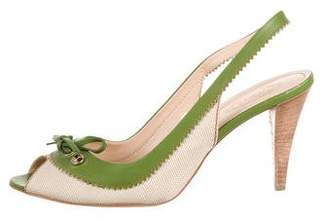 Tod's Woven Slingback Sandals