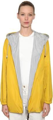Reversible Waterproof Hooded Nylon Parka