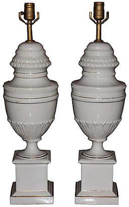 One Kings Lane Vintage Detailed Classical Urn Shaped Lamps - Something Vintage