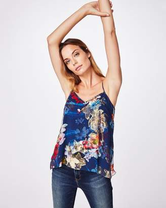Nicole Miller Scratch Floral High-low Cami