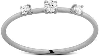 Lana 14k Solo Three-Diamond Wire Ring