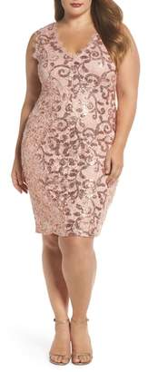 Marina Sequin Lace Party Dress