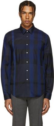 Burberry Navy Southbrook Shirt $350 thestylecure.com