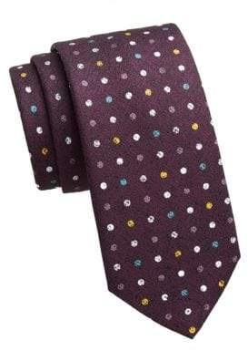 Saks Fifth Avenue COLLECTION Polka Dot Silk Print Tie