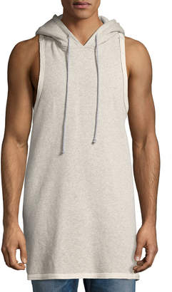 Hudson Men's Sleeveless Pullover Hoodie, Gray