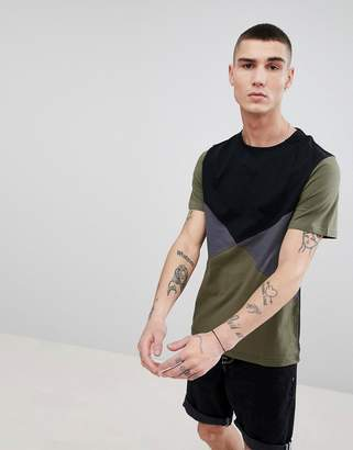 Another Influence Diamond Color Block T-Shirt