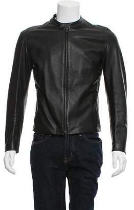 Maison Margiela Leather Cafe Racer Jacket