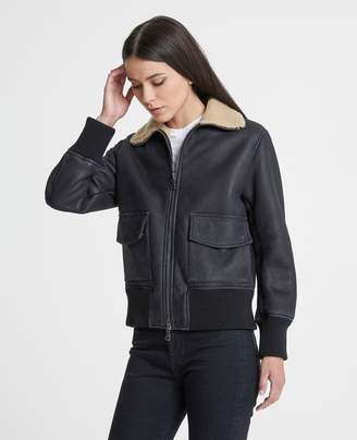 AG Jeans The Dree Leather Aviator
