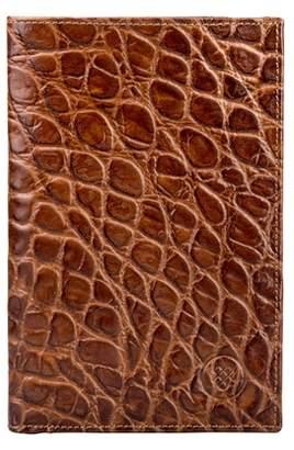 Maxwell Scott Bags Men S Handmade Brown Mock Croc Leather Breast Wallet