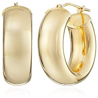14k Gold Round Hoop Earrings