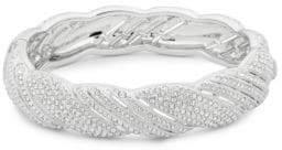 Adriana Orsini Pavé Crystals Scalloped Bangle Bracelet