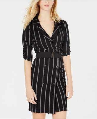 Almost Famous Juniors' Striped Trench Dress