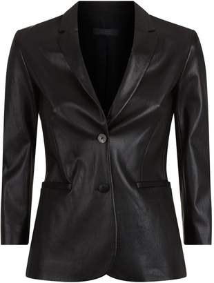 The Row Nolbon Leather Blazer