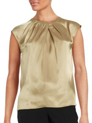 Nipon Boutique Pleated Satin Top $59 thestylecure.com
