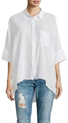 Free People Best of Me Cotton Button-Down Shirt