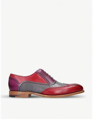 Barker Valiant tri-tone leather oxford shoes