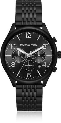 Michael Kors Merrick Black Plated Chronograph Watch