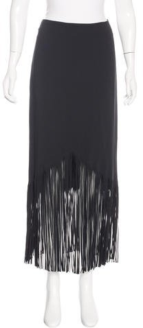 Tom Ford Fringe-Trimmed Midi Skirt