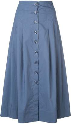 Sea front button skirt
