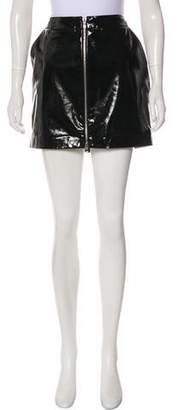 L'Agence Patent Leather Mini Skirt w/ Tags