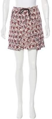 Marni Printed Mini Skirt Grey Printed Mini Skirt