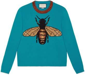 Gucci Mystic cat wool knit sweater