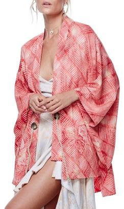 Free People Shibori Print Kimono $198 thestylecure.com
