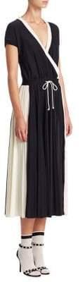 Valentino Athleisure V-Neck Midi Dress