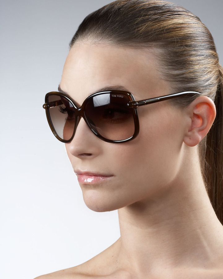 Tom Ford Callae Oversized Sunglasses