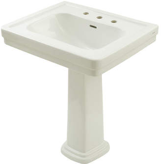 """Toto Promenade Vitreous China 35"""" Pedestal Bathroom Sink with Overflow Sink"""