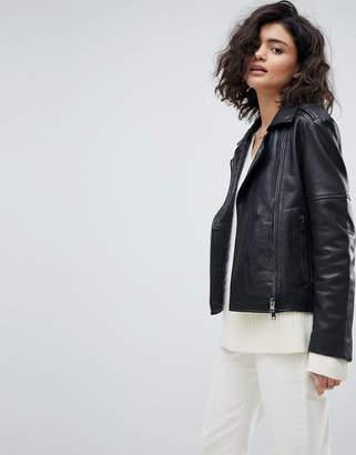 Muu Baa Muubaa Healey Leather Biker Jacket