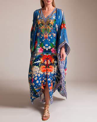 Camilla Faraway Florals Split Front Kaftan