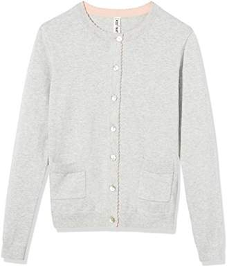 Kid Nation Girls' Long Sleeve Cardigan Sweater Classic with Pocket M