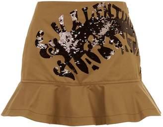 Valentino Sequin Frill Skirt