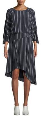 Joie Gabisa Asymmetric Striped Dress