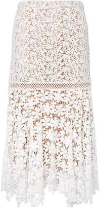 MICHAEL Michael Kors Guipure Lace Midi Skirt - White