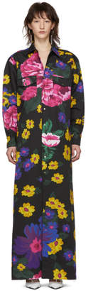 Marques Almeida Multicolor Cowboy Shirt Dress