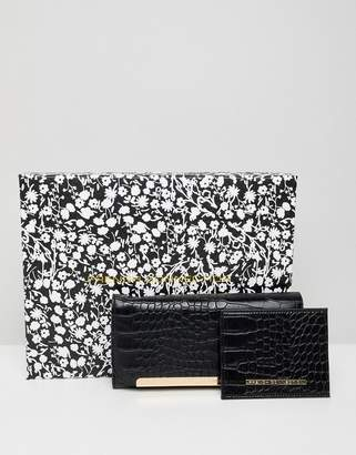 French Connection snakeskin clutch purse