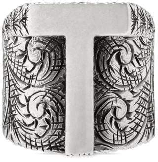 """Gucci Letter """"T"""" ring in silver"""