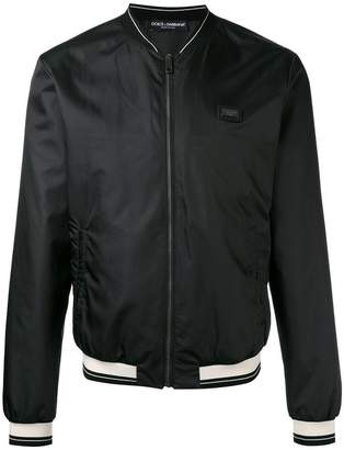 Dolce & Gabbana Black Nylon bomber jacket
