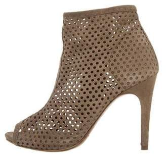 Pedro Garcia Perforated Peep-Toe Booties