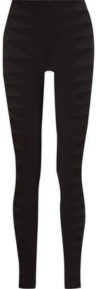 Rick Owens Tulle-trimmed Stretch-jersey Leggings - Black