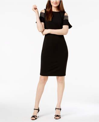 Calvin Klein Studded Cold-Shoulder Dress