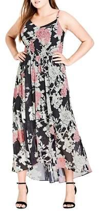 City Chic Bonsai Floral Maxi Dress